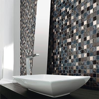Moderniser sa maison avec de la mosa que mon blog habitat - Faience salle de bain gris et blanc ...